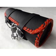 MOTORCYCLE MOTORBIKE GENUINE LEATHER TOOL ROLL SADDLE BAG TR5