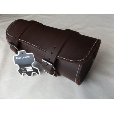 MOTORCYCLE MOTORBIKE GENUINE LEATHER TOOL ROLL SADDLE BAG TR9